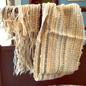 Vintage Handspun, Handwoven scarf